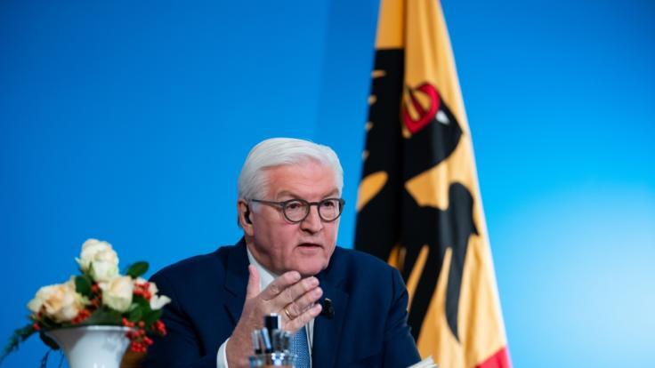 Bundespräsident Steinmeier wendet sich an die deutschen Bürger. (Foto)