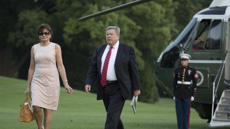 Viktor und Amalija Knavs, die Eltern von Melania Trump. (Foto)