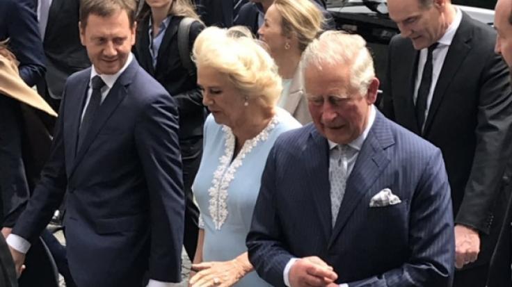Charles und Camilla sind in Leipzig angekommen.