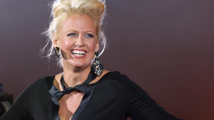 Barbara Schöneberger zeigte sich im sexy Domina-Look. (Foto)