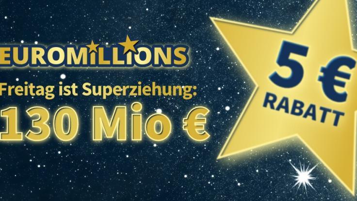Am Freitag, 24.09.2021, liegen 130 Mio. Euro im Super-Jackpot bei EuroMillions (Foto)