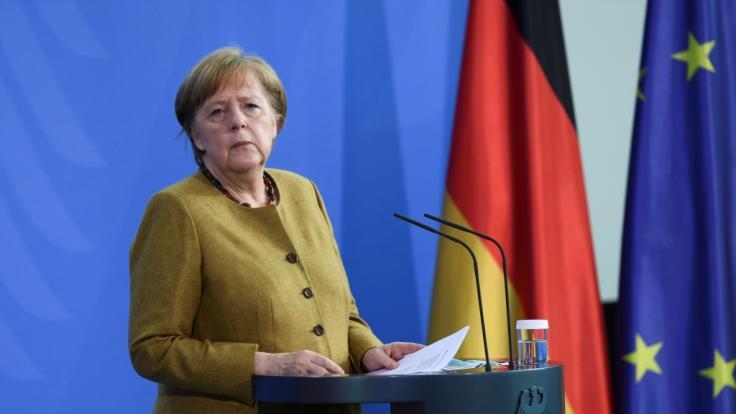 Angela Merkel will das Infektionsschutzgesetz ändern, um den Bundes-Lockdown durchzusetzen. (Foto)