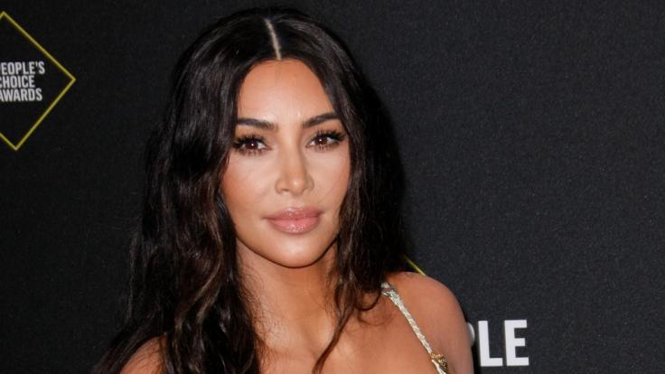 Kim Kardashian bewirbt ihre neue Skims-Kollektion. (Foto)