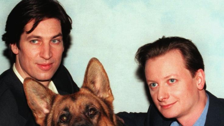 """Christian Böck (r.) und Tobias Moretti (l.) in der Sat 1 -Serie """"Kommissar Rex"""". (Foto)"""