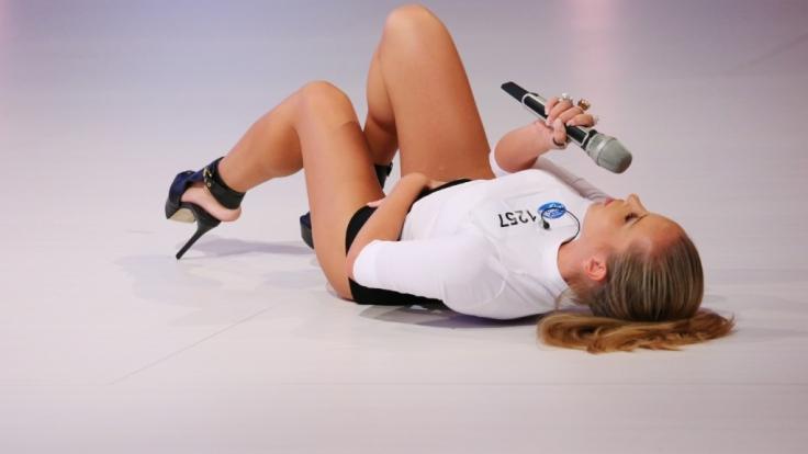 Enya Maria Jost (18) aus Rüdesheim zeigt vollen Körpereinsatz. (Foto)