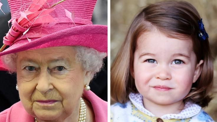 Ähnelt Prinzessin Charlotte tatsächlich ihrer Uroma, der Queen? (Foto)