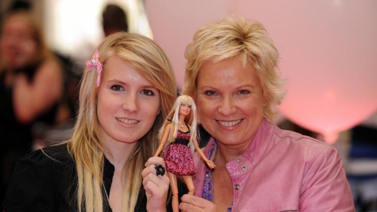 Moderatorin Birgit Lechtermann mit Tochter Lisan (Foto)