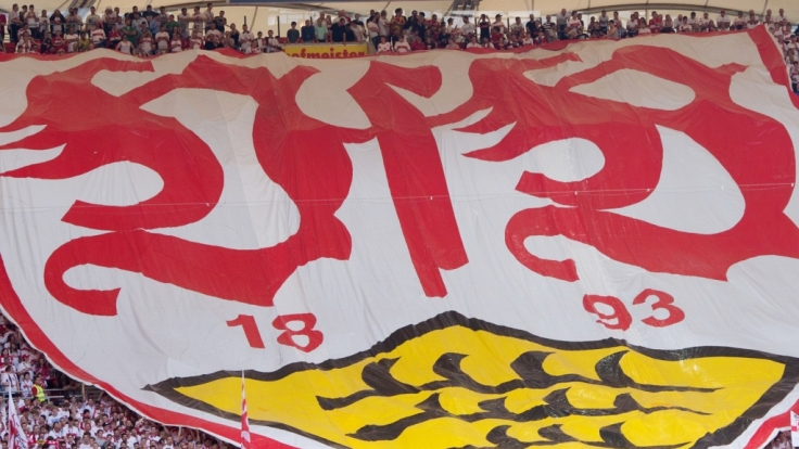 Mit großen Bannern unterstützen die Fans den VfB Stuttgart. (Symbolbild) (Foto)