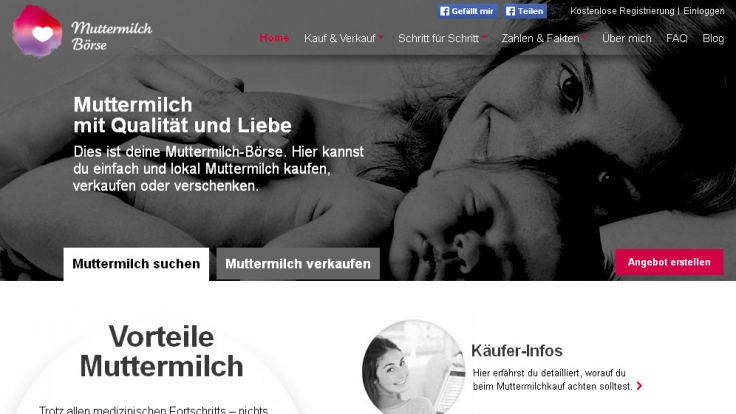 Die Muttermilch Börse von Tina Müller bringt milchsuchende und milchbietende Frauen zusammen.