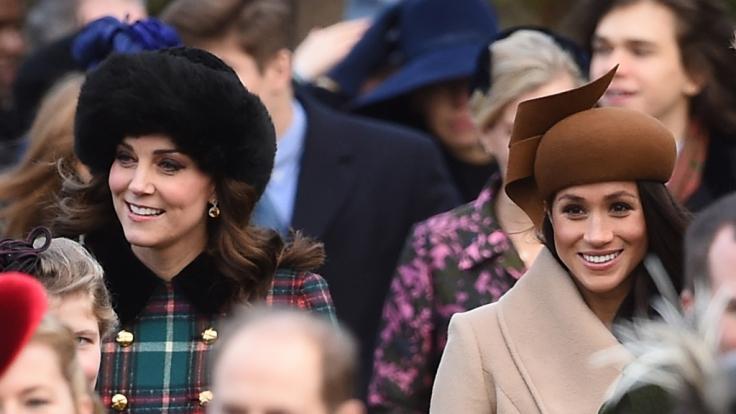 Werden noch 2018 offiziell Schwägerinnen: Kate Middleton und Meghan Markle.