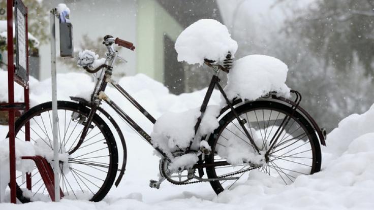 Nichts mit Frühling: Der April überrascht in diesem Jahr mit reichlich Schnee. (Foto)