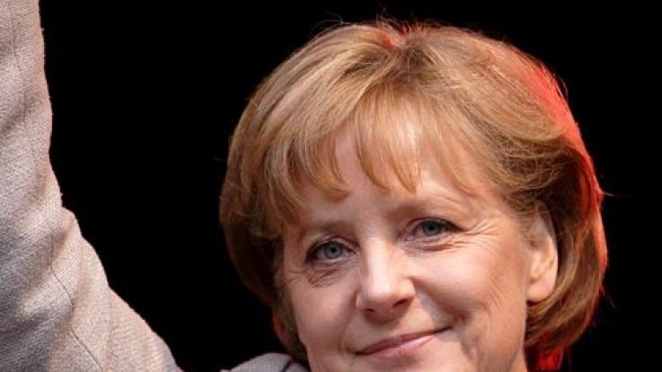Angela Merkel wird im Wahlkampf menschlich. (Foto)