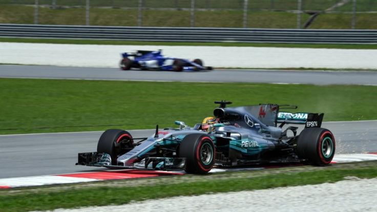 Lewis Hamilton beim Grand Prix von Malaysia.