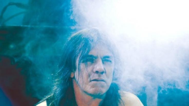 Malcolm Young, Gitarrist der australischen Hard-Rock-Band AC/DC im Jahr 2010.