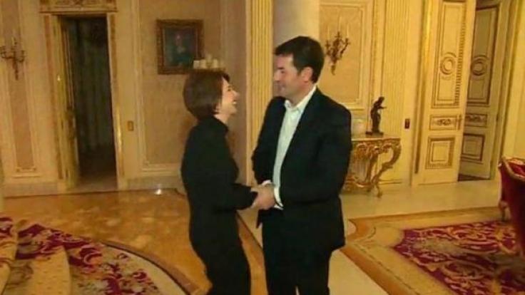 Natalia und Vladimir Potanin in glücklicheren Tagen. (Foto)