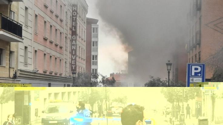 Eine schwere Explosion erschütterte am Mittwochnachmittag die spanische Hauptstadt Madrid. (Foto)
