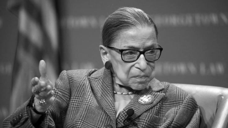 Ruth Bader Ginsburg ist im Alter von 87 Jahren gestorben. (Foto)