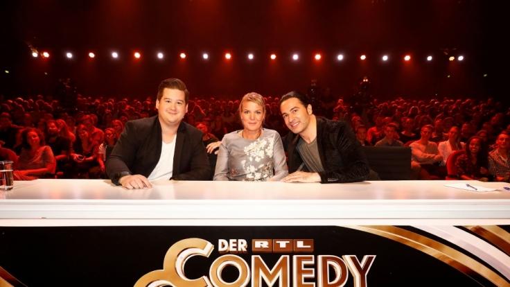 """Die Jury von """"Der RTL Comedy Grand Prix"""": (v.l.) ChrisTall, Mirja Boes und Bülent Ceylan. (Foto)"""