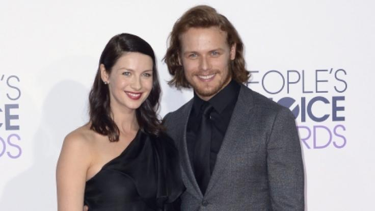 "Caitriona Balfe und ihr ""Outlander""-Kollege Sam Heughan bei den People's Choice Awards in Los Angeles. (Foto)"