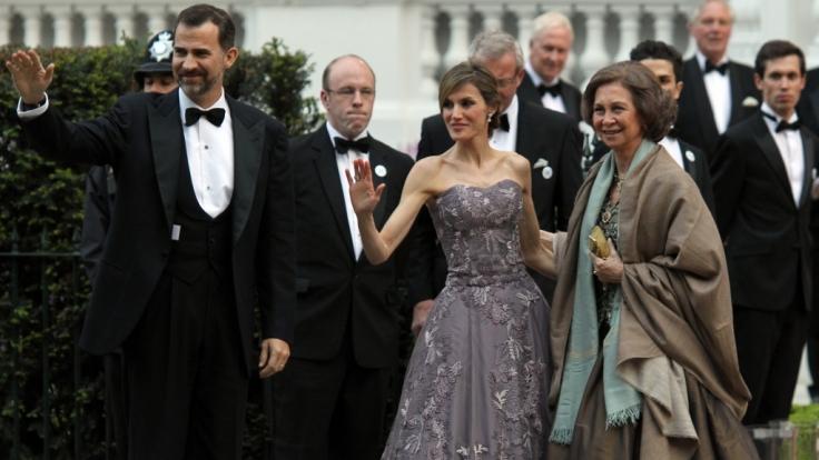 Letizia war schon bei Kates Hochzeit schrecklich dürr.