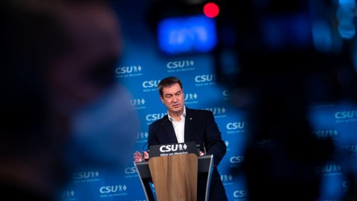"""Markus Söder unterstützt Forderung der Leopoldina nach """"hartem Lockdown"""". (Foto)"""