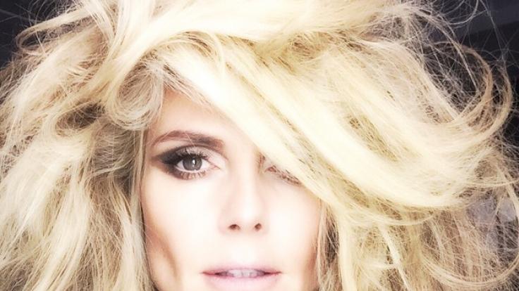 Das Resultat kann sich sehen lassen: Heidi Klum nach dem Styling.