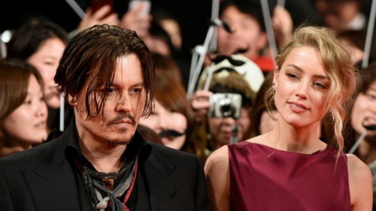 Johnny Depp und Amber Heard im Januar 2015 bei einer Filmpremiere in Tokio.