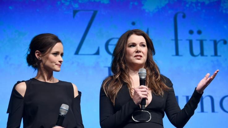 """Lauren Graham im Admiralspalast zu einem Fan-Event von """"Gilmore Girls"""" im Jahr 2016. (Foto)"""