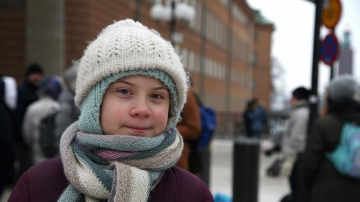 Klimaaktivistin Greta Thunberg kommt nach Hamburg. (Foto)