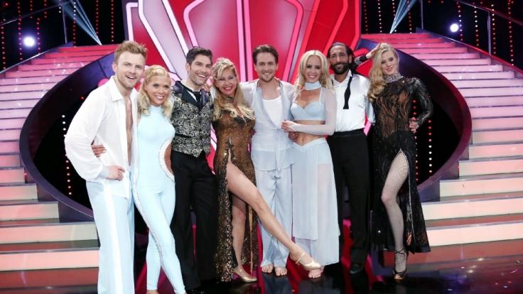 Vier Promis tanzen um den Einzug ins Halbfinale von «Let's Dance» 2014. Larissa Marolt muss sich mit Platz vier zufrieden geben.