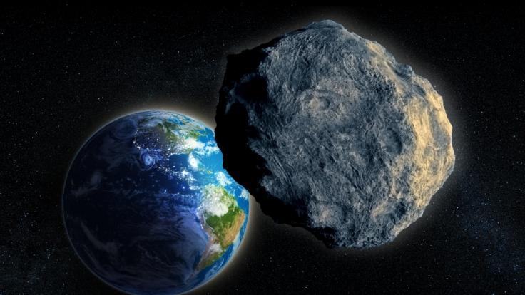 Ein Asteroid kommt der Erde heute gefährlich nah. (Foto)