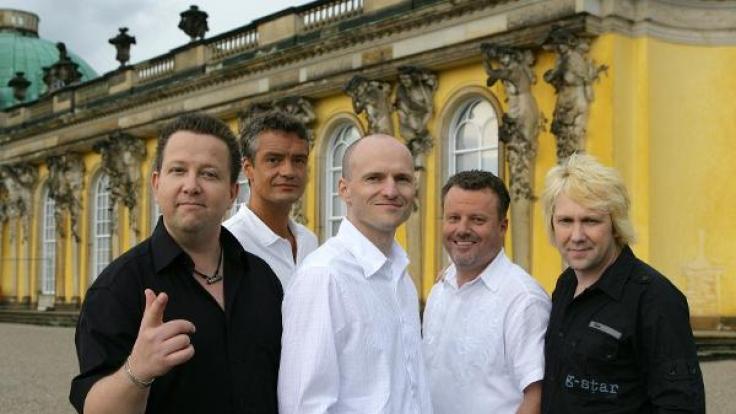 v.l.n.r.: Sebastian Krumbiegel , Jens Sembdner, Wolfgang Lenk, Henri Schmidt und Tobias Künzel von der Band
