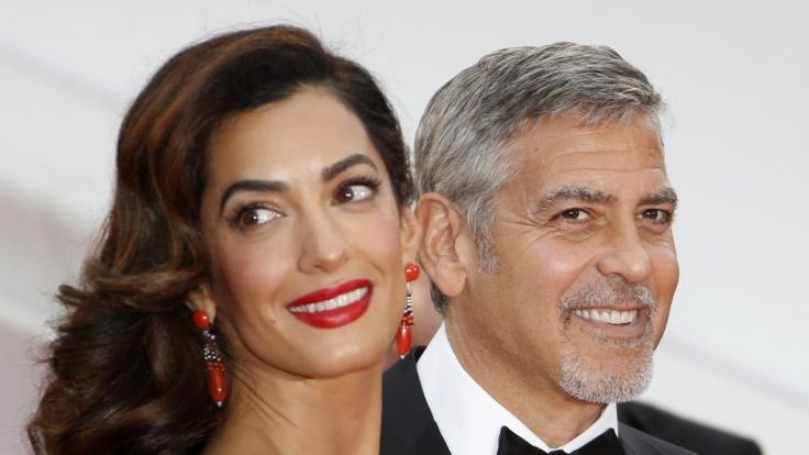 Voller Vorfreude: Amal und George Clooney werden im Sommer zum ersten Mal Eltern.