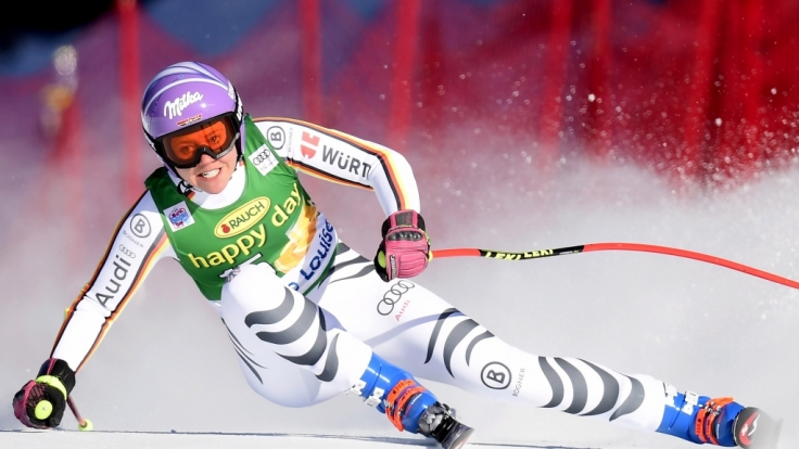 Viktoria Rebensburg in Aktion.