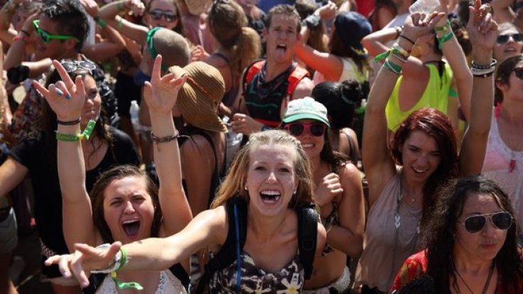 Party auf dem Coachella Festival.