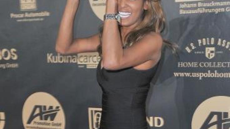 Nadja Abd El Farrag war shcon immer recht dünn, wie hier bei der Jummimüüs Charity Gala 2010.