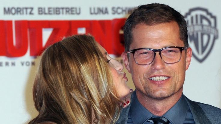 """Til Schweiger mit seiner Tochter Lilli bei der Premiere des Films """"Schutzengel"""". (Foto)"""