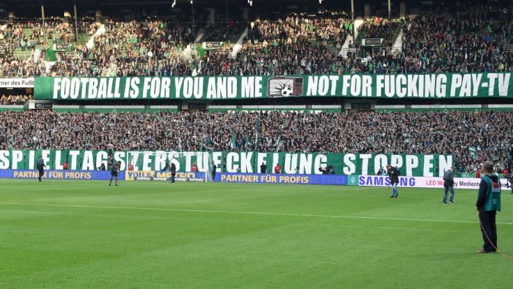 Nicht jeder Fußball-Fan ist mit der Verteilung der Übertragungsrechte von Fußballspielen in der 3. Liga einverstanden. (Foto)