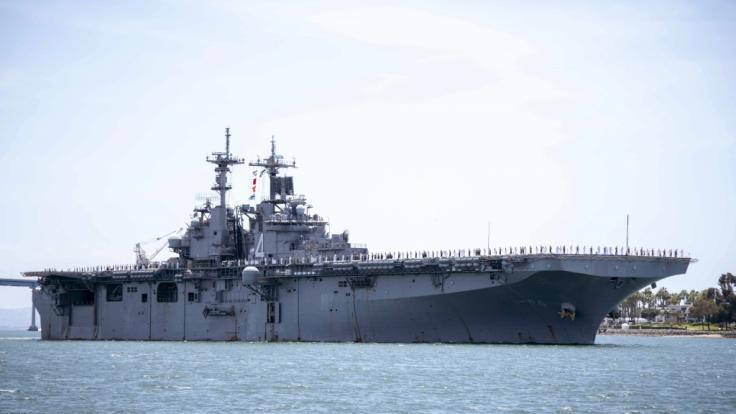 Angeblich von iranischer Drohne bedroht: Die USS Boxer im Persischen Golf. (Foto)