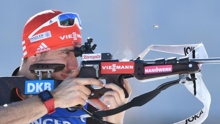 Arnd Peiffer wird in Wiesbaden um Gold beim City Biathlon kämpfen.