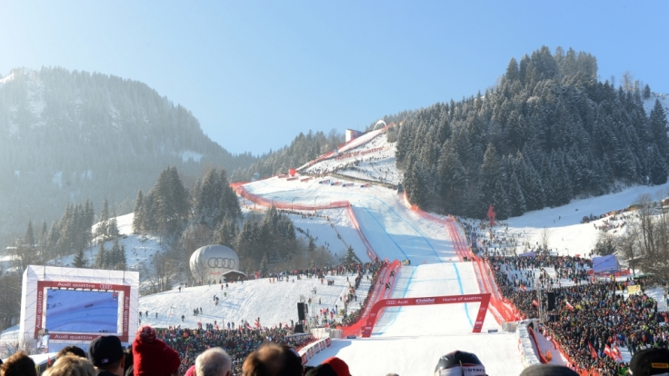Die legendäre Streif in Kitzbühl lädt wieder zum Ski Weltcup ein. (Foto)