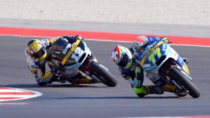Beim Moto2-Rennen in San Marino kam es zu einem Schock-Moment. (Symbolbild)