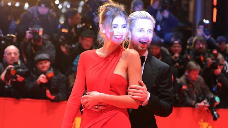 Stefanie Giesinger und Marcus Butler bei den 67. Internationalen Filmfestspielen in Berlin im Februar 2017.