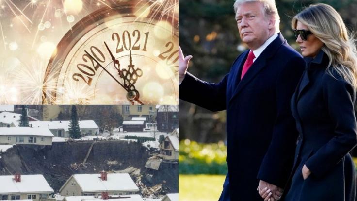 News des Tages am 31.12.2020 zu Donald und Melania Trump, Erdrutsch in Norwegen und internationalen Silvesterbräuchen. (Foto)