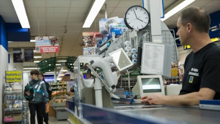 Im Edeka in Halle/Saale ist Einkaufen ebenfalls rund um die Uhr möglich. (Foto)