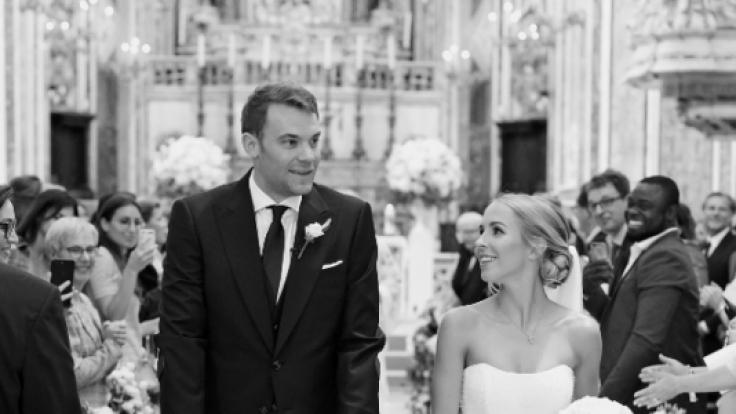 Manuel Neuer und seine Frau Nina.