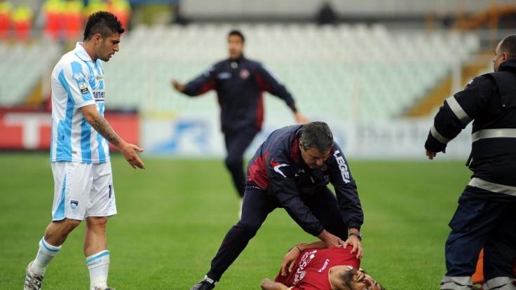 Für Piermario Morosini kam jede Hilfe zu spät. Anders als Fabrice Muamba konnte er nicht mehr reanimiert werden. (Foto)