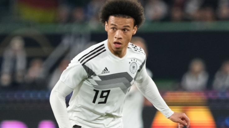 LeroySané in Aktion für die deutsche Nationalmannschaft.