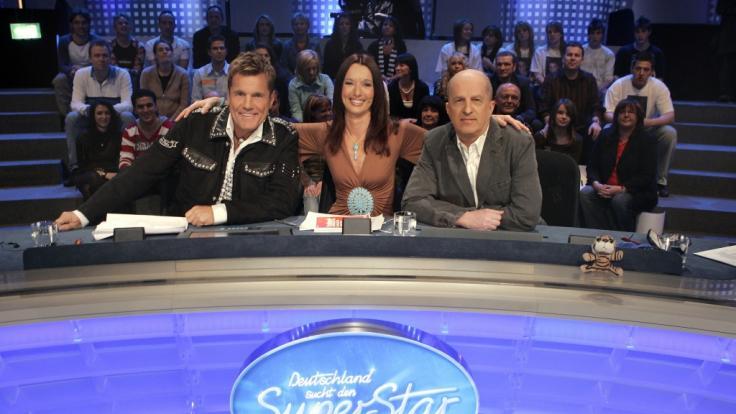 In der vierten DSDS-Staffel saßen Dieter Bohlen (l.), Heinz Henn und Anja Lukaseder in der Jury. (Foto)