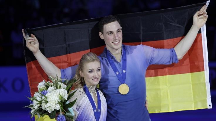 Überglückliche Aljona Svchenko und Bruno Massot: Ist es nun das Karriere-Ende? (Foto)